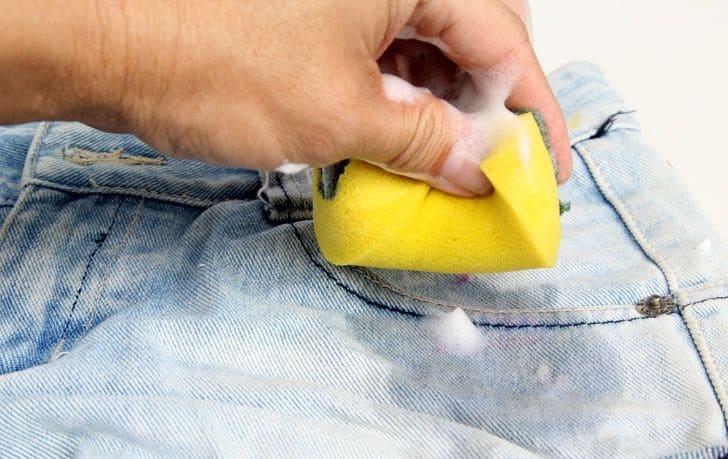Чем вывести пятно от растительного масла с джинс фото