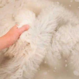 Как постирать и высушить овчину