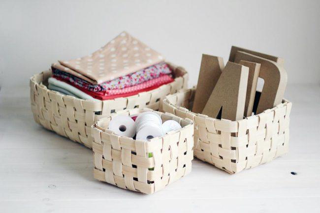 Коробки для хранения вещей из картона, бумаги, ткани сделанные своими руками
