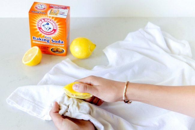 Эффективные способы удаления желтых пятен подмышками на белом