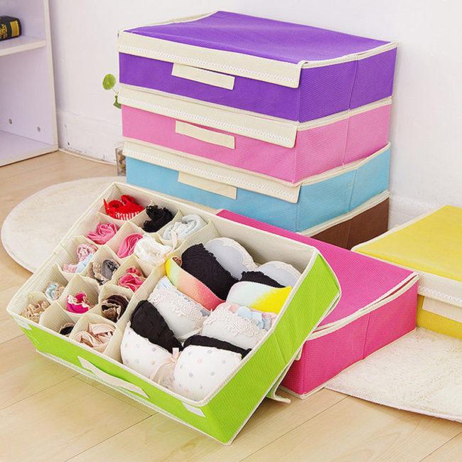 Как хранить нижнее белье: маленький шкаф порядку не помеха